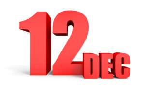 63680933 - december 12. text on white background